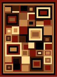 picture of modern contemporary geometric linked in square rug