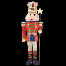 Christmas Lighted Soldiers Home Accents Holiday Toasty Tinsel 5 Ft Pre Lit Tinsel