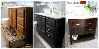 painting bathroom vanity before and after. small master bathroom makeover 187 decor adventures painting vanity before and after u