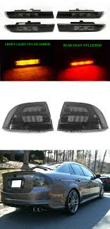 How To Replace Side Marker Light On Acura Tl Details About 6pcs Smoke Tail Amber Red Front Rear Side Marker Lights For 2004 08 Acura Tl