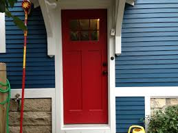 white front door blue house. Blue House, White Trim, And Red Door In Elmhurst - Opal Enterprises Front House A