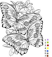 Coloriage Magique De Papillon Sur Jeudefille Com