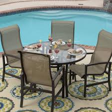 Kitchen Table Sets Under 300 Acadia 5 Piece Sling Patio Dining Set With Glass Table By Lakeview
