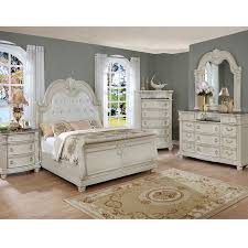 Crown Mark 1630 Stanley Antique White Bedroom Set