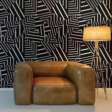 Dazzle Self Adhesive Wallpaper in Black ...