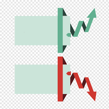 Down Arrow Chart Green Line Graph Going Up And Red Line Going Down Arrow