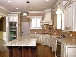 Kitchen Cabinets  Wonderful White Granite Kitchen - Kitchen granite countertops