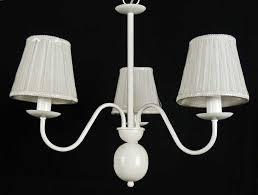 20 lampadario paralumi bianco shabby chic fiammingo corte country art b26