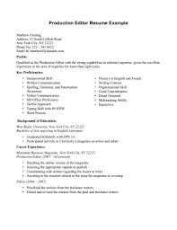 Music Production Assistant Cover Letter Resume Sample Production