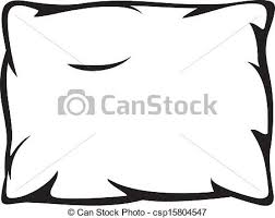 pillow drawing. vector - white pillow drawing n