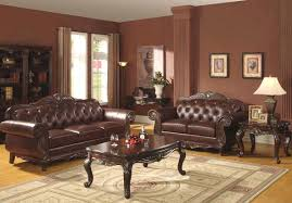 Leather Furniture For Living Room Traditional Living Room Design Ideas In Neutral Color Scheme With