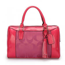 Coach Legacy Haley Medium Fuchsia Satchels AVV