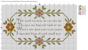 Chart Cross Stitch Free Free Cross Stitch Charts And Motifs Hands Across The Sea