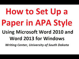 apa template for word 2013 how to format a paper in apa style using microsoft word 2010 and