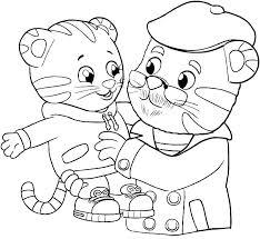 Daniel Tiger Coloring Page Tiger Coloring Pages Printable Tiger