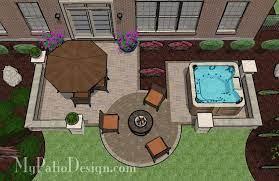 hot tub patio design patio designs