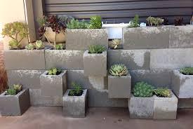 concrete block furniture. exellent block tiered modular planters from concrete blocks in block furniture s
