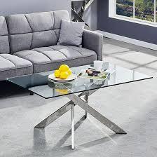 daytona glass coffee table in clear