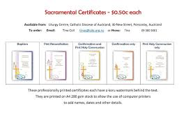 Fake Baptismal Certificate Certificates Catholic Diocese Of Auckland