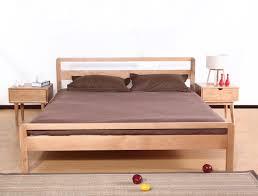 japanese minimalist furniture. Wood Meters Back White Oak Double Bed Japanese Minimalist Furniture O