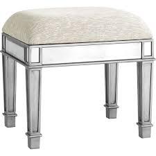 hayworth silver vanity stool  pier  imports