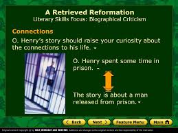 A Retrieved Reformation By O Henry Ppt Download