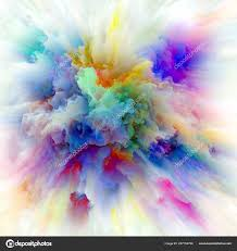 color emotion series artistic background made color explosion use projects stock photo