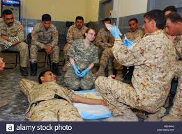Spc. Krystal Smith, course instructor and medic assigned to Company Stock  Photo - Alamy