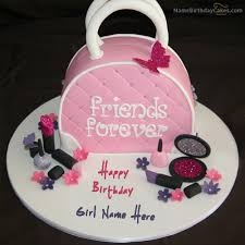 Write Name On Fashion Birthday Cake For Girls Happy Birthday