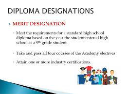 Merit Designation The Journey Continues Your Freshman Sophomore Year Ppt