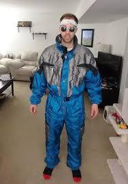 Cerros Mens Vintage 80s 90s Onesie Snow <b>SKI Suit</b> Jacket ...