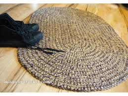oval braided rug braided doormat 2x3 ft rug colors blend rug custom color rug no 029