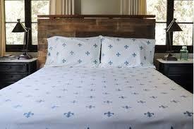Sheet Set - Fleur-de-lis (Whale Blue)