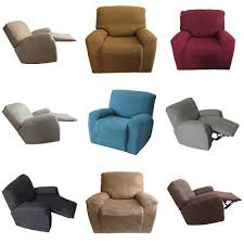 4 piece recliner chair slipcover suede