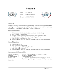 Ccna 1 Year Experience Resume Free Resume Example And Writing