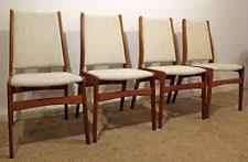 set of 4 mid century danish modern anderstrup mobelfabrik teak dining chairs