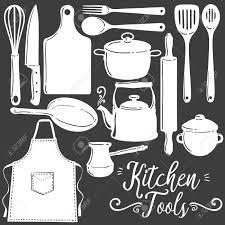 kitchen utensils vector. Kitchen Tools, Baking, Pastry Silhouette Flat Vector Set. Icon, Emblem Utensils L
