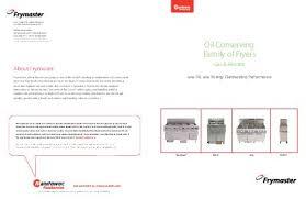 frymaster product oil conserving brochure fq ocf 1814