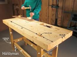 Home; Homemade Tabletop Woodworking Bench. Build A Work Bench On A Budget  The Family Handyman