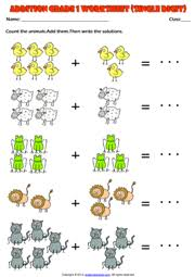Singlet Addition Worksheets For First Grade Problems 1st With further Grade 1 Subtraction Printable Maths Worksheets and Exercises besides Grade 1 math worksheet   add 3 single digit numbers   K5 Learning likewise  besides Addition Worksheets   Dynamically Created Addition Worksheets further Grade 1 Addition Printable Worksheets and Exercises additionally Math Worksheets Addition 4digit 1digit 001 Pin One Digit additionally  further Kindergarten 1st Grade Math Worksheets Addition For 1 Snapshot additionally 22 best Singapore Math images on Pinterest   Singapore math likewise Grade 1 Subtraction Printable Maths Worksheets and Exercises. on 1st grade math worksheet single digit