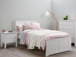 white girl bedroom furniture. White Kids King Single Bed \u2013 Fantastic Timber Frame Girl Bedroom Furniture