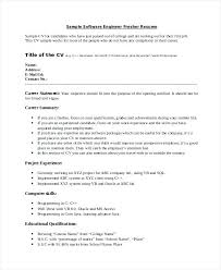 Objective In Resume For Software Engineer Experienced Resume Software Engineer Srhnf Info