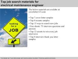 6 top job search materials for electrical maintenance engineer maintenance engineer cover letter