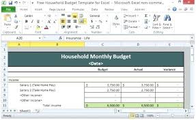 Family Budget Templates Excel Family Budget Template Excel Free Walach Info