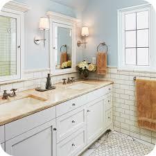 bathroom Subway Tile Bathroom Feature Wall Wood Floor White Gray