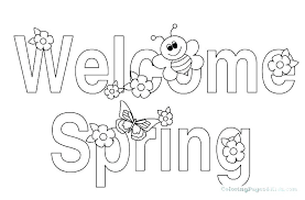 Preschool Spring Coloring Pages As Well As Free Printable And Spring