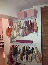 organizing purses and bags closet purse organizer with pink storage and racks also bag hanger organization