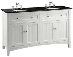 60 inch white beadboard bathroom vanity with black galaxy granite top 60 wx21 dx37 h ccf47530