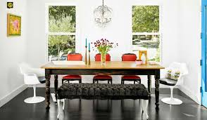 create contrast with modern and vine chairs