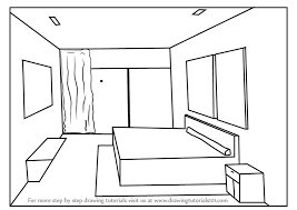 Charming How To Draw One Point Perspective Bedroom